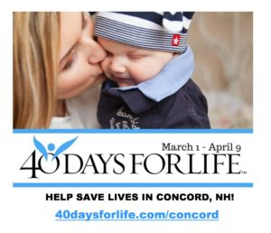 First hour of 40 Days for Life Concord