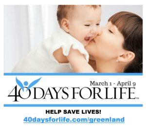 40 Days for Life Greenland Closing Rally