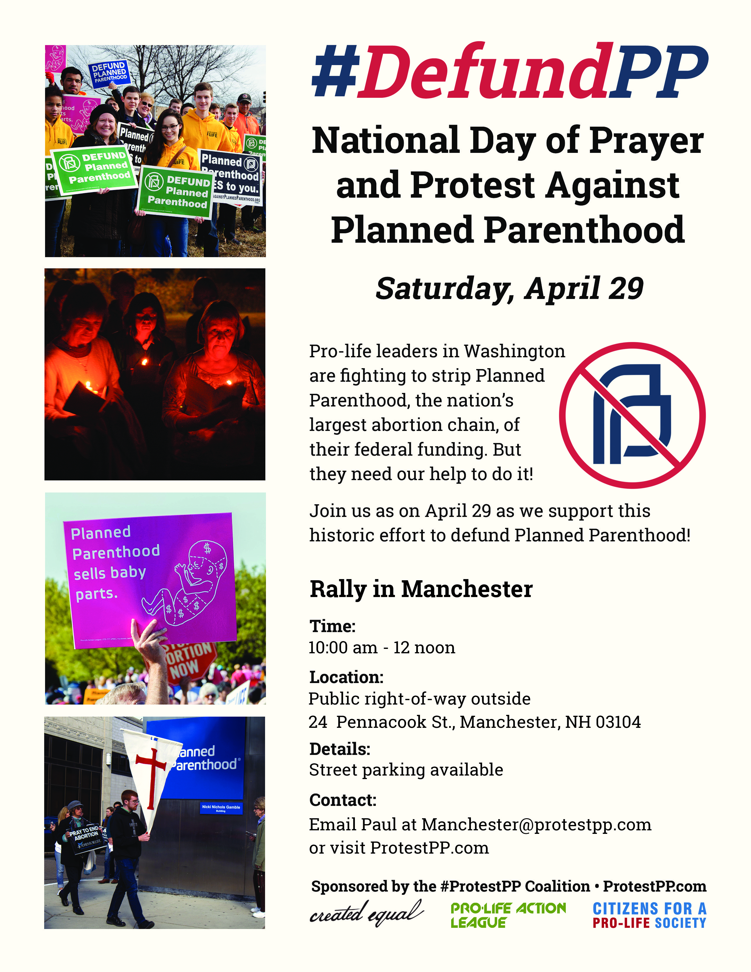 National Day of Protest against Planned Parenthood @ Manchester | New Hampshire | United States