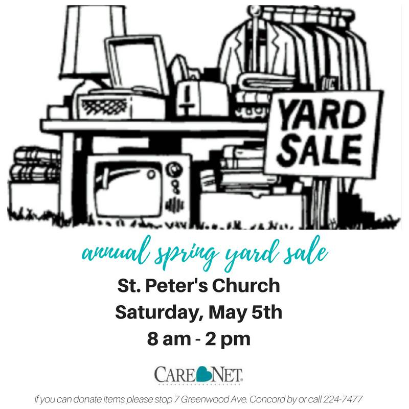 Annual Spring Yard Sale for Carenet of Concord @ St. Peter's Church | Concord | New Hampshire | United States