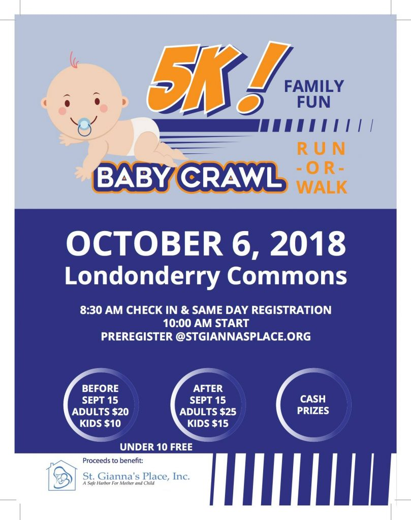 St. Gianna's Place Baby Crawl 5K @ Londonderry Town Common | Londonderry | New Hampshire | United States