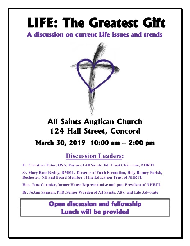 Life: The Greatest Gift @ All Saints Anglican Church