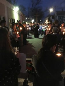 Pro-life vigil outside abortion art exhibit @ Dover Arts Center