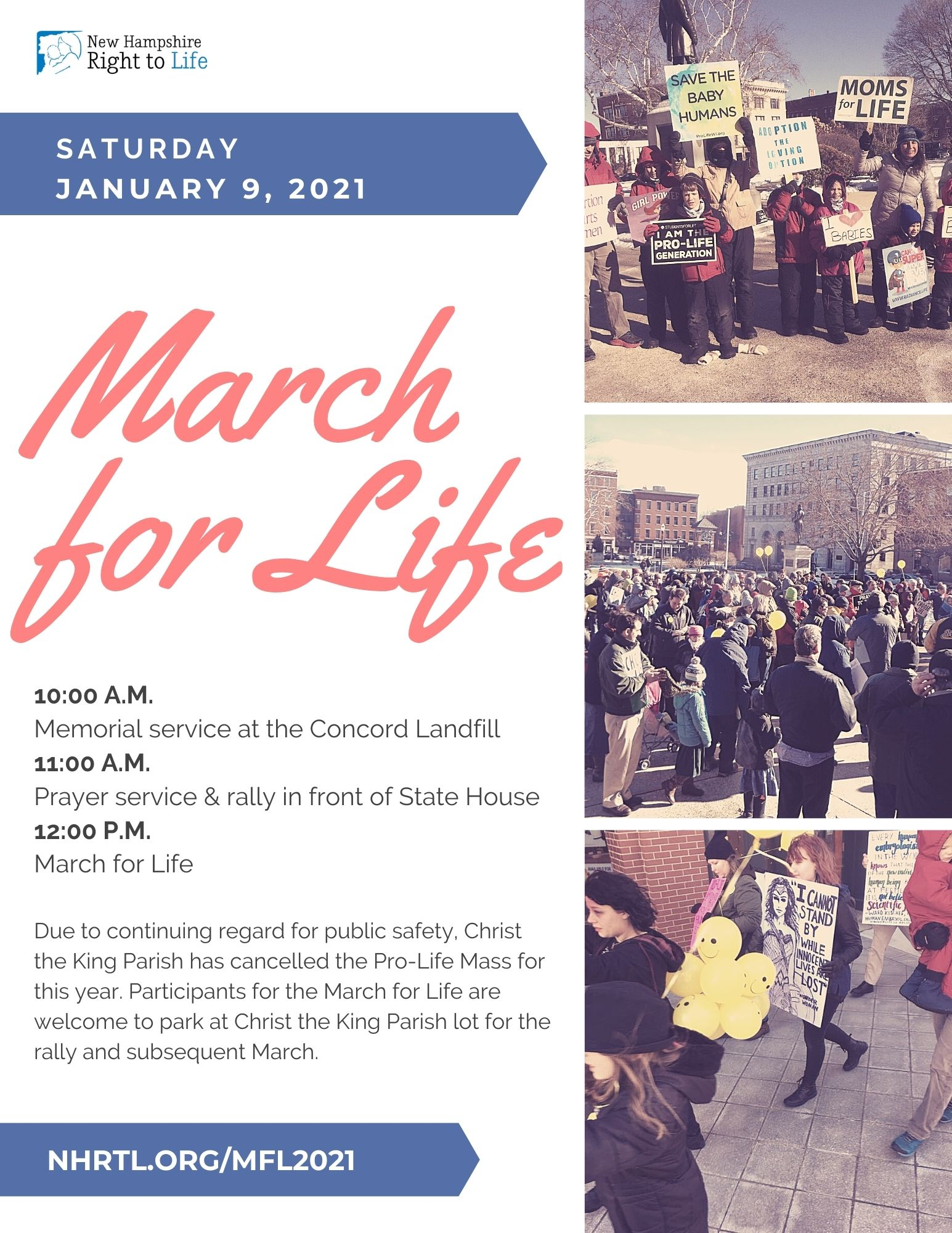 NH March for Life @ New Hampshire State House