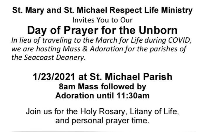 Day of Prayer for the Unborn @ St. Michael Parish