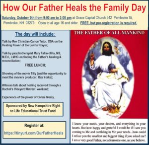How Our Father Heals Family Day